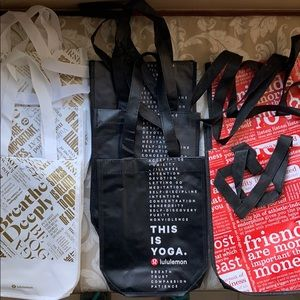 9 small Lululemon Athletica reusable bags. New